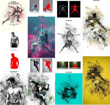 Gif Animated Ink Scribbles Photoshop Action by GraphicAssets