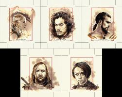Personal Sketch Cards featuring Game of Thrones by jbcasacop