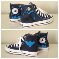 Nightwing Sneakers 2 by breathless-ness