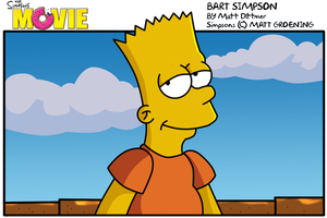 Bart:Simpsons Movie by kintobor