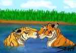 tiger kiss by SnarfTheSnarfer