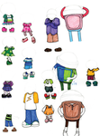 Different outfits for Team Umizoomi by ChameleonCove