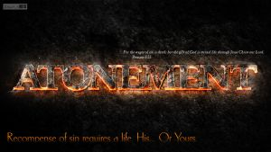 Atonement (Full Wallpaper)- Romans 6:23 by SympleArts