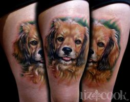 Maddy's Dog Portrait by LizCookTattoo