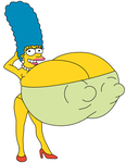 Marge Simpson giant sized boobs by CH1996ART