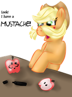 Apple Mustache by Lwba