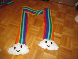 Rainbow Cloud Scarf by Alelamon