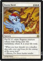 Magic Card Alteration: Rainbow Dash Storm Herd by Ondal-the-Fool