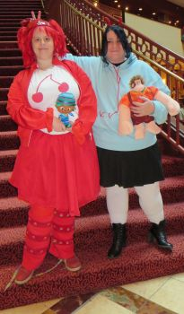 Vanellope and Jubileena at Ichibancon 2014 by MaryRyanBogard