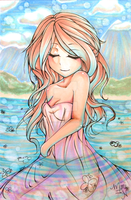 Copic Marker Drawing: Water Nymph by BitterSweetNitemare