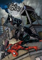 Venom Vs Spiderman by steveagoto