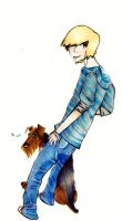 A Boy And His D'awwwwg by Noctomaniac