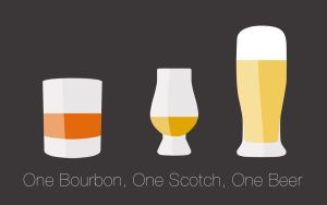 One Bourbon, One Scotch, One Beer by BitumeX