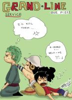 Luffy is tired by Nami-chwann