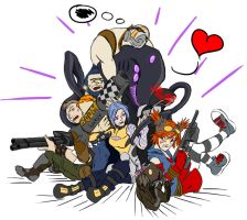 Borderlands 2 - Let's be friends by BillieCake