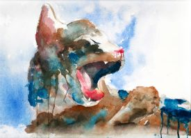 Watercolor Cat by Little-Blue-Buggy