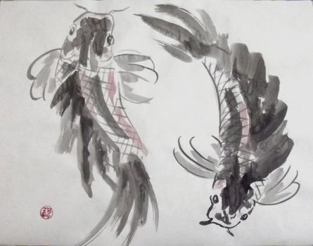 first Koi fish by RodVill