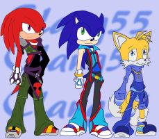Team Sonic Kingdom Heart style by Clang55