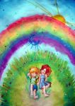Under the rainbow by Oruba