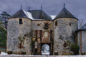 castle of Fresnays sur Sarthe Sarthe France by hubert61