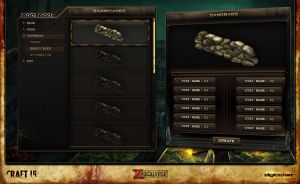 ZPocalypse: Survival | UI Design | Crafting Screen by jonnyshaw