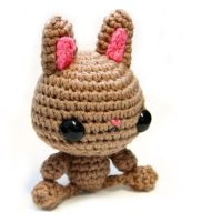 Brown Bunny Plush by tinyowlknits
