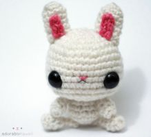White Bunny Amigurumi by adorablykawaii