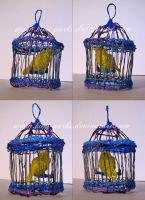 3Doodler: Hanging Caged Canary, Actually Swings by Kimi-Parks