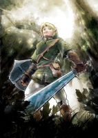 Link In Faron Woods by AudGreen
