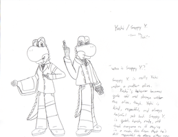 Yoshi and Snappy Y. by Dann-The-Yoshi