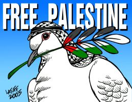 Palestinian Peace Dove by Latuff2