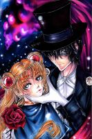 +Sailor Moon and Tuxedo Kamen+ by LauraTheMudblood