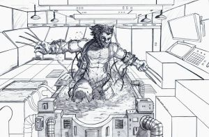 Weapon X pencils by DerekDwyer