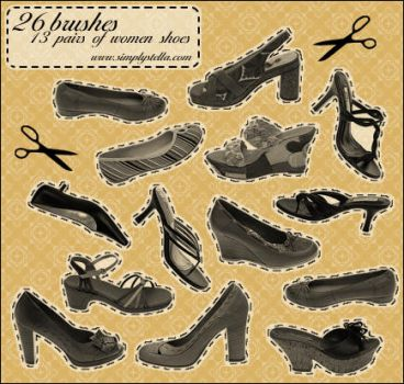 Shoes - 13 pairs, 26 brushes by thinkpastel