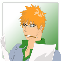 Ichigo the Painter Line Vector Colouring PREVIEW by TattyDesigns