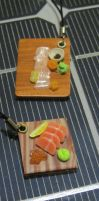 New Try: Polymer Clay Sashimi Charm by Aya-no-Shrink-Ray