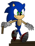 Sonic climbing down the Stairs by Sonicdude645