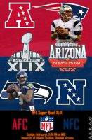 SuperBowl XLIX Announcement Card by BamBamArtsHD