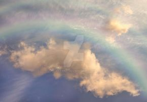 Clouds with rainbow 1 STOCK by AStoKo