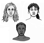 some faces by spacemerperson