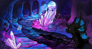 Crystal Cave WIP by celestialsunberry