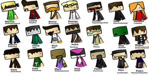 Minecraft Youtubers by MCdrawings