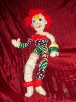 Ziggy Stardust Knit Doll by SelahJanel