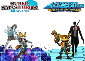 Fox and Isa vs Ratchet and Clank and Dante by NintendoFanDj