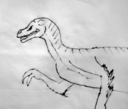 Raptor Napkin Drawing by Gojilion91