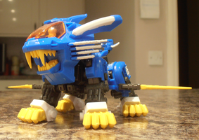 Zoids D-Style Blue Blade Liger by IrishWolven