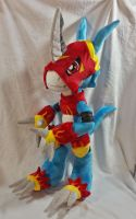 Digimon - Flamedramon custom plush by Kitamon