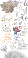 Sketchdump #1 by GoldFlareon