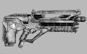Pulse Rifle Type Weapon by Richard-Daborn