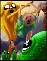 Doodle Time: with Finn and Jake and color by SemajZ